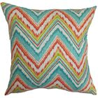 Brushwood Zigzag Floor Pillow Color: Teal/Red
