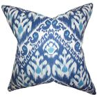 Dino Ikat Throw Pillow