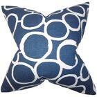 Beltran Geometric Floor Pillow Color: Blue