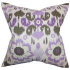 Schiavo Ikat Floor Pillow Color: Purple