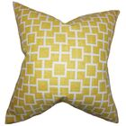 Ehren Dozier Geometric Floor Pillow Color: Yellow