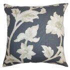 Champney Floral Floor Pillow Color: Black