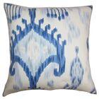 Bringewood Ikat Floor Pillow Color: Blue/White