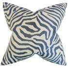 Delrico Zebra Floor Pillow Color: Marine