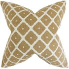 Edgware Geometric Floor Pillow Color: Copper