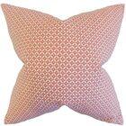 Maxwell Geometric Floor Pillow Color: Blush
