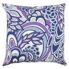 Dunford Floral Floor Pillow Color: Plum