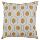 Quinton Geometric Floor Pillow Color: Pumpkin