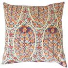 Zeil Cotton Floor Pillow Color: Red/Blue
