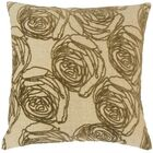 Amaury Floral Floor Pillow Color: Cork