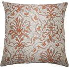 Burcott Damask Floor Pillow Color: Melon