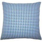 Reuben Geometric Floor Pillow Color: Bluebell
