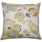 Amaud Floral Floor Pillow Color: Graystone