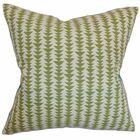 Duerr Cotton Throw Pillow Color: Green, Size: 22