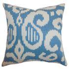 Hohenems Ikat Throw Pillow Color: Aqua, Size: 20