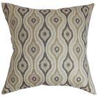 ie Ikat CottonThrow Pillow Color: Gray, Size: 20