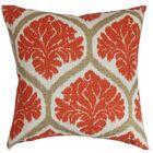 Priya Floral Bedding Sham Size: Standard, Color: Russett