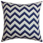 Deion Cotton Throw Pillow Color: Bluebell, Size: 22