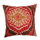 Iovenali Ikat Throw Pillow Color: Red, Size: 22
