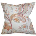 Dilys Floral Throw Pillow Color: Orange, Size: 22