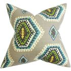 Lorne Geometric Cotton Throw Pillow Size: 22