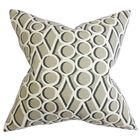Hardaway Geometric Bedding Sham Size: Queen, Color: Gray