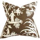 Delana Floral Bedding Sham Color: Brown, Size: King