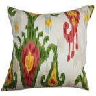 Bringewood Ikat Bedding Sham Size: Euro, Color: Green/Pink