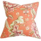 Penton Floral Bedding Sham Size: Euro, Color: Orange