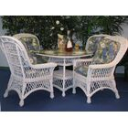 Rosado 5 Piece Dining Set with Cushions Color: White, Cushion Color: Rare Earth