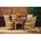 5 Piece Dining Set Fabric: Ciboney Lacquer