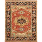 Serapi Hand-Knotted Turkish Lamb's Wool Area Rug Rug Size: Runner 2'7