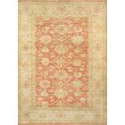 Sultanabad Lamb's Wool Coral/Tan Area Rug Rug Size: 12' x 18'