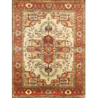 Tribal Serapi Persian Ivory/Rust Area Rug Rug Size: Square 8'