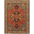 Serapi Hand-Knotted Rust/Ivory Area Rug Rug Size: 8' x 9'11
