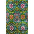 Sari Silk Hand-Knotted Multi-colored Area Rug