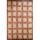 Tibetan Hand-Knotted Wool Orange/Gold Area Rug Rug Size: Rectangle 5' 2