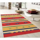 Kilim Handwoven Cotton Red/Yellow Area Rug Rug Size: Rectangle 4' x 6'