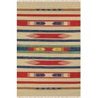 Anatolian Hand-Woven Cotton Blue/Red/Beige Area Rug Rug Size: Rectangle 4' x 6'