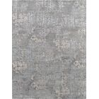 Modern Hand-Knotted Gray Area Rug Rug Size: 9' x 11'11