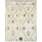 Moroccan Hand-Knotted Ivory Area Rug Rug Size: 6'1