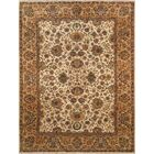 Agra Hand-Knotted Wool Ivory Area Rug Rug Size: Rectangle 8' x 10'4