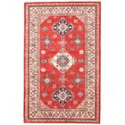 One-of-a-Kind Kazak Hand-Knotted Wool Red/Cream Area Rug