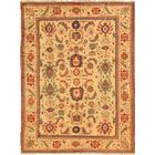 Sultanabad Hand-Knotted Yellow Area Rug