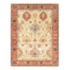 Kerman Hand-Knotted Ivory/Rust Area Rug Rug Size: Rectangle 8' x 10'