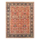 Ferehan Hand-Knotted Rust/Navy Area Rug Rug Size: Rectangle 12' x 15'