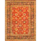 Mahal Hand-Knotted Rust/Brown Area Rug Rug Size: 6' x 9'