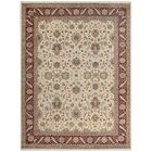 One-of-a-Kind Tabriz Hand-Knotted Wool Ivory/Rust Area Rug