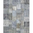 Patchwork Hand-Woven Gray Area Rug