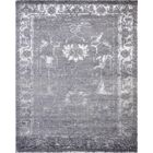 Hand-Knotted Wool Gray Area Rug Rug Size: Rectangle 5' x 8'